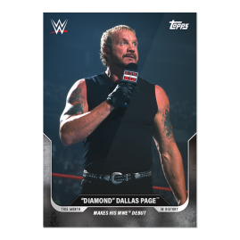 """6/18/01        """"Diamond"""" Dallas Page™ Make his WWE® debut- This Moment in WWE History - Card 21"""