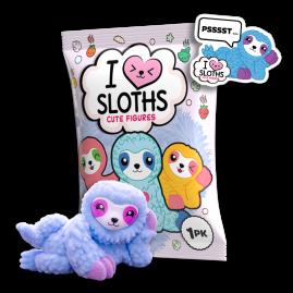 I Love Sloths Figuren