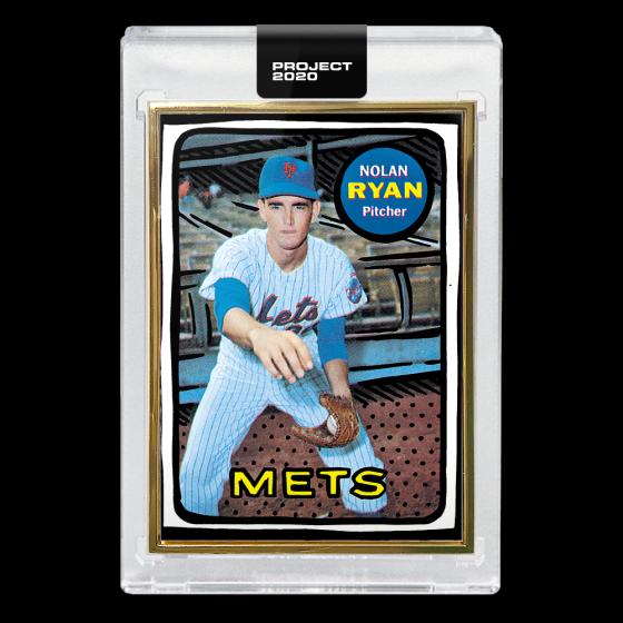 Topps PROJECT 2020 Card 87 -  1969 Nolan Ryan by Joshua Vides - Print Run: 64629