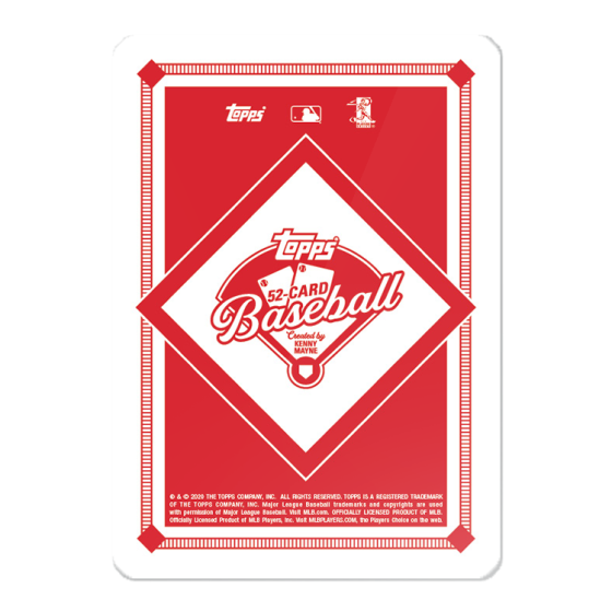 Topps 52-Card Baseball Game - Created by Kenny Mayne - Series 2