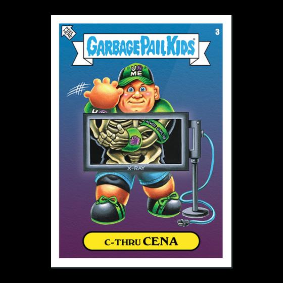 WWE x GPK 13-Sticker Set - Print Run: 1028