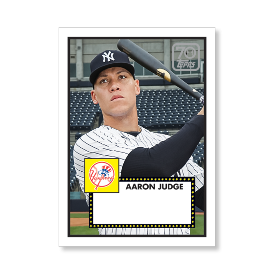 Aaron Judge 2021 Topps Series 1 Baseball 70 YEARS OF TOPPS ...