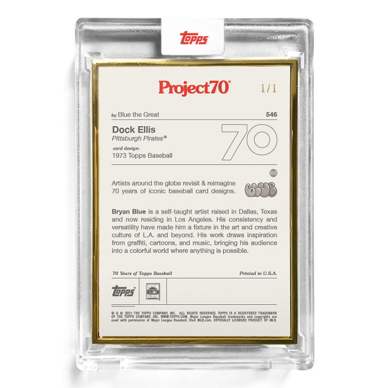 Topps Project70® Card 546 -  1973 Dock Ellis by Blue the Great - PR: 745