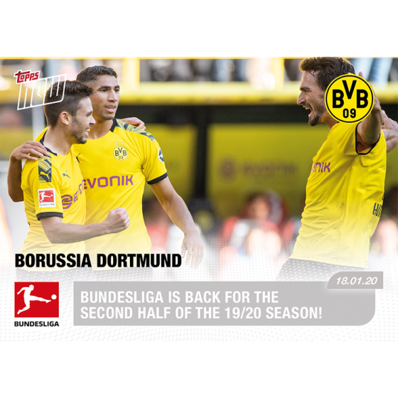 Bundesliga Is Back For The Second Half Of The 19 20 Season Bundesliga Topps Now