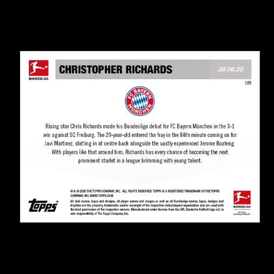Topps now liga 2020-soccer card 189-American Rookie Player Richards en