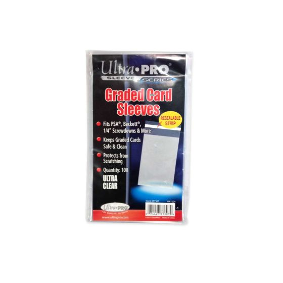 ultra pro graded card sleeves 100 packunit