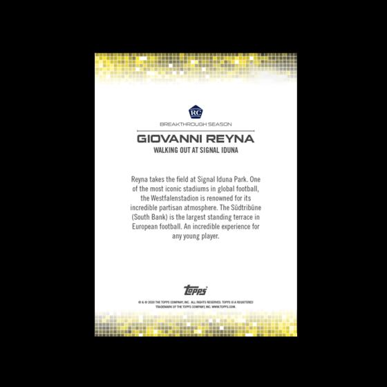 2020 Topps On-Demand Set # 19 - Gio Reyna Set - Print Run: 1420