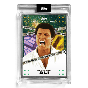 2021 Topps MUHAMMAD ALI - Rumble in the Jungle by Tyson Beck Card #7 - Artist Proof # to 56
