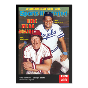 2021 Topps x Sports Illustrated - Mike Schmidt/George Brett - Card #64