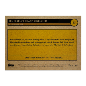 2021 Topps UK  MUHAMMAD ALI - The People's Champ Card #33