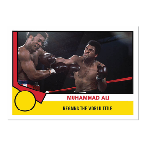 2021 Topps MUHAMMAD ALI - The People's Champ  2-Card Bundle - Cards #53-54