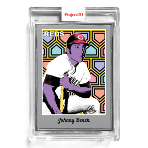 Topps Project70® Card 180 -  1970 Johnny Bench by Ron English  - Artist Proof # to 51