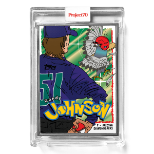 Topps Project70® Card 299 -  1995 Randy Johnson by Ermsy  - Artist Proof # to 51