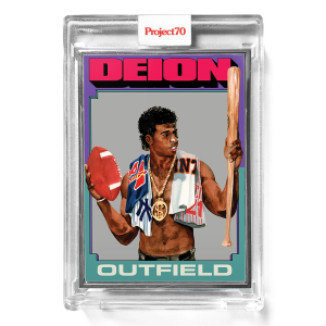 Topps Project70® Card 300 -  1975 Deion Sanders by Jacob Rochester  - Artist Proof # to 51