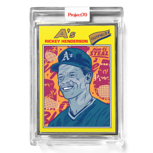 Topps Project70® Card 307 -  1977 Rickey Henderson by Morning Breath  - Artist Proof # to 51