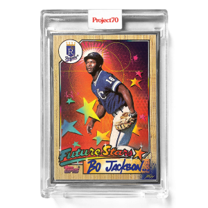 Topps Project70® Card 552 -   Bo Jackson by RISK  - Artist Proof # to 51