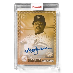 Topps Project70® Card 579 -  2001 Reggie Jackson by Claw Money - On-Card Auto # to 1