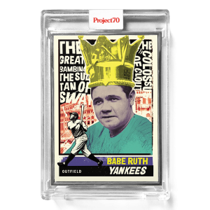 Topps Project70® Card 580 -  1976 Babe Ruth by New York Nico  - Artist Proof # to 51