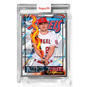 Topps Project70® Card 582 -   Mike Trout by King Saladeen  - Artist Proof # to 51