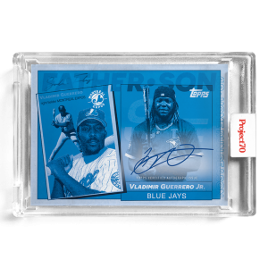 Topps Project70® Card 583 -   Vladimir Guerrero Jr. / Vladimir Guerrero Sr. by SoleFly - On-Card Auto # to 10