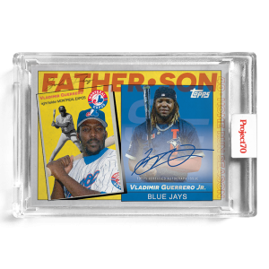 Topps Project70® Card 583 -   Vladimir Guerrero Jr. / Vladimir Guerrero Sr. by SoleFly - On-Card Auto # to 70
