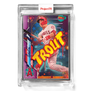 Topps Project70® Card 642 -  2020 Mike Trout by RISK  - Artist Proof # to 51