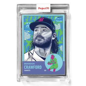 Topps Project70® Card 656 -   Brandon Crawford by Morning Breath  - Artist Proof # to 51