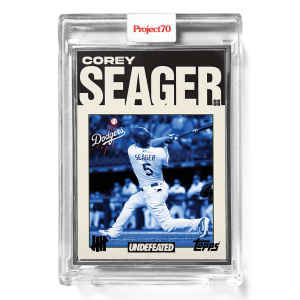 Topps Project70® Card 673 -   Corey Seager by UNDEFEATED  - Artist Proof # to 51