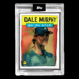 2021 Topps x Spotlight 70 - Card #12 - Dale Murphy - Artist Proof # to 25