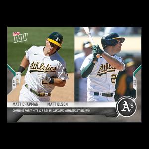 Matt Chapman / Matt Olson  - 2021 MLB TOPPS NOW® Card 346