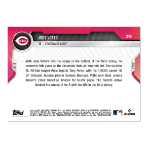 Joey Votto  - 2021 MLB TOPPS NOW® Card 348