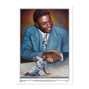 2021 Topps - Game Within The Game 10x14 Fine Art Print #8 - Jackie Robinson - #'d to 99