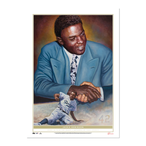 2021 Topps - Game Within The Game 10x14 Fine Art Print #8 - Jackie Robinson - #'d to 1
