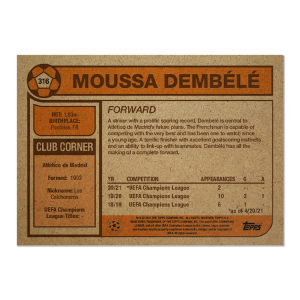 Topps UCL Living Set Card #316 - Moussa Dembélé