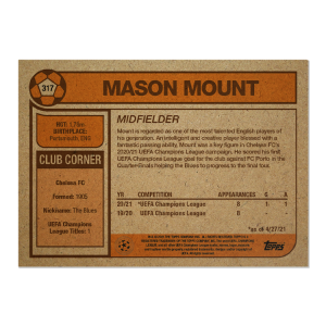 Topps UCL Living Set Card #317 - Mason Mount