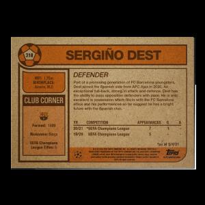 Topps UCL Living Set Card #318 - Sergino Dest