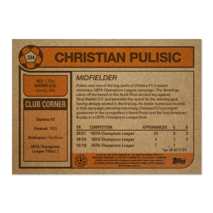 Topps UCL Living Set Card #334 - Christian Pulisic