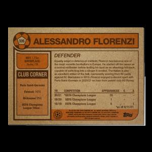 Topps UCL Living Set Card #335 - Alessandro Florenzi