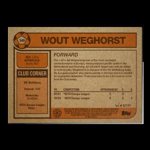Topps UCL Living Set Card #349 - Wout Weghorst