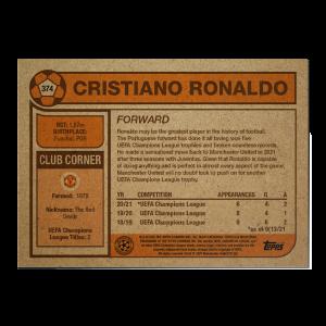 Topps UCL Living Set Card #374 - Cristiano Ronaldo
