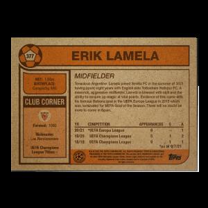 Topps UCL Living Set Card #377 - Erik Lamela