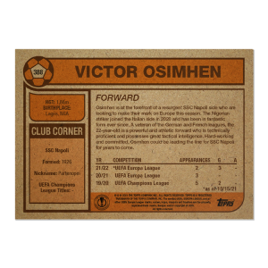 Topps UCL Living Set Card #388 - Victor Osimhen