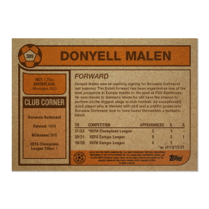 Topps UCL Living Set Card #389 - Donyell Malen