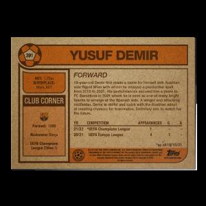 Topps UCL Living Set Card #391 - Yusuf Demir
