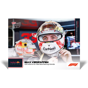100 Starts For Red Bull Racing  - F1 TOPPS NOW® UK Card #9