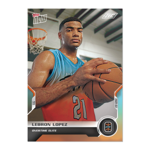 4-Card Bundle - 2021 Overtime Elite TOPPS NOW® Debut Cards: 21-24
