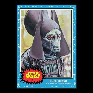 Topps Star Wars Living Set® Card #251 - Rune Haako