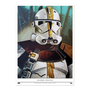 Topps Living Set Fine Art Print #108 - Clone Trooper - #'d to 100