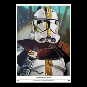 Topps Living Set Fine Art Print #108 - Clone Trooper - Gold #'d to 1