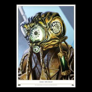 Topps Living Set Fine Art Print #134 - Zuckuss - Gold #'d to 1